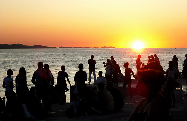 Sunset in Zadar, photo Klovovi (CC BY 2.0)